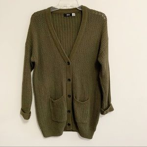 BDG UO Open Oversized Button Cardigan Sweater XS